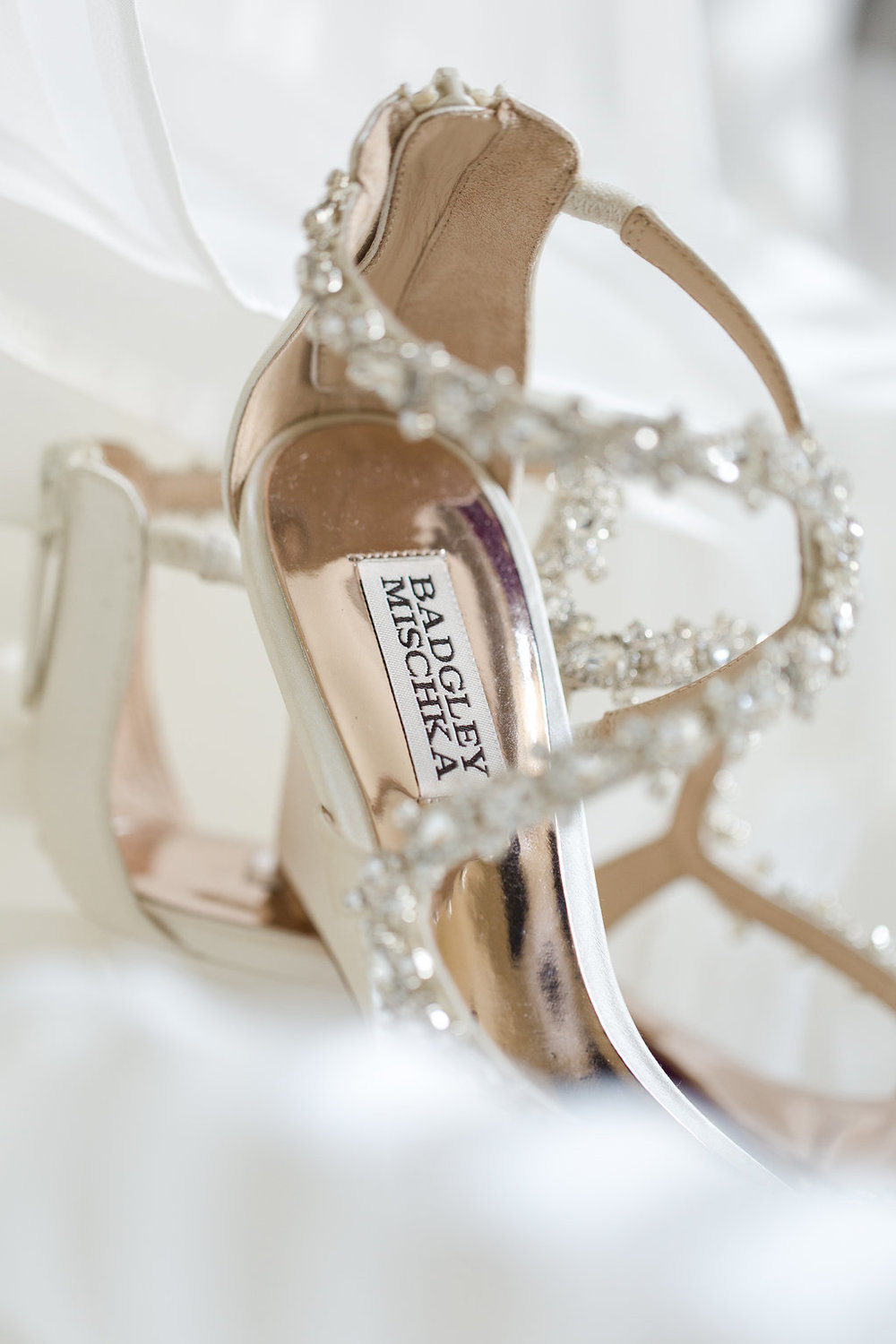 Badgley Mischka Wedding Wedges - Sheboygan Town & Country Golf Club Wedding - Wisconsin Wedding