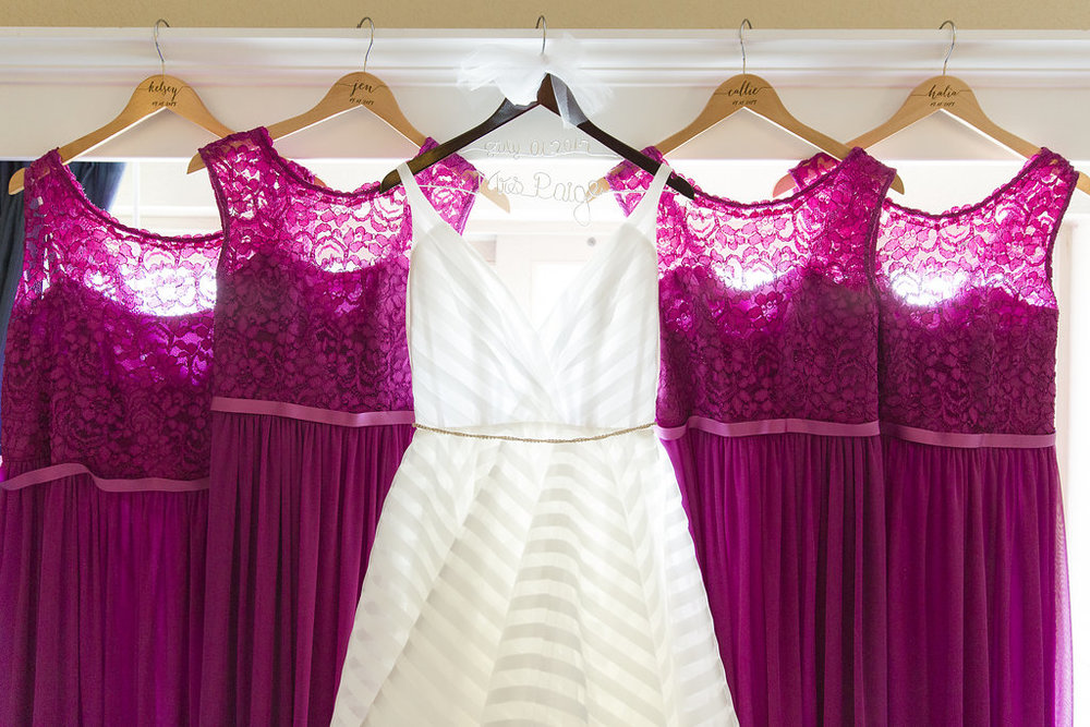 Pink Bridesmaid Dresses - Sheboygan Town & Country Golf Club Wedding - Wisconsin Wedding