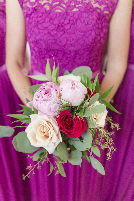 Pink Bridesmaid Dresses - Sheboygan Town & Country Golf Club Wedding - Wisconsin Wedding