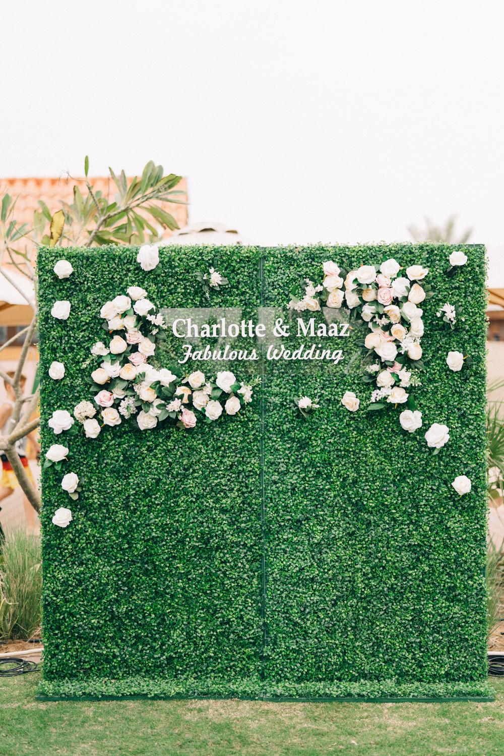 Unique Photobooth Backdrop - An Intimate Ritz Carlton Dubai Wedding