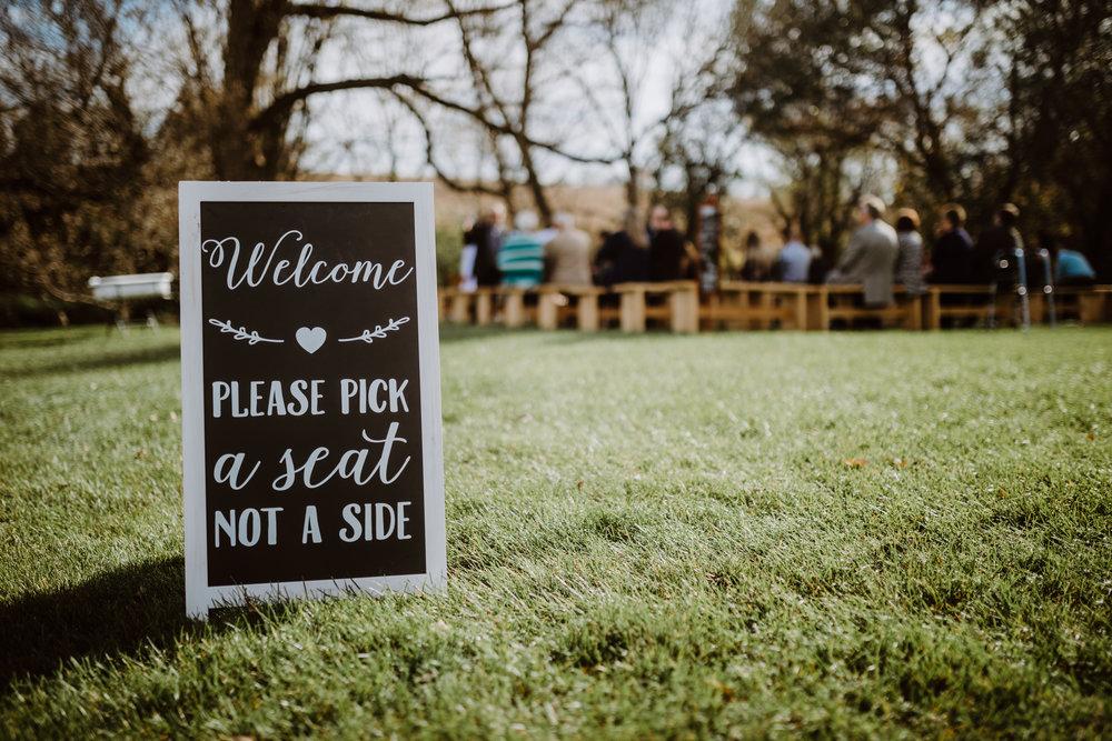 Charlkboard Wedding Sign - A Pennsylvania Barn Swallow Farm Wedding
