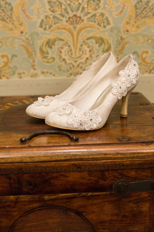 Vintage White Wedding Shoes - Gorgeous Yosemite Wedding Venues