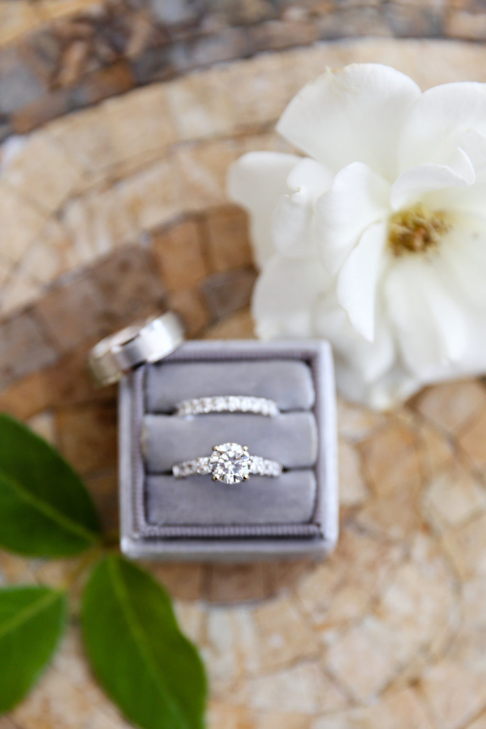 Gorgeous Solitaire Wedding Rings - Gorgeous Seal Beach Wedding Venue - Old Country Club Wedding