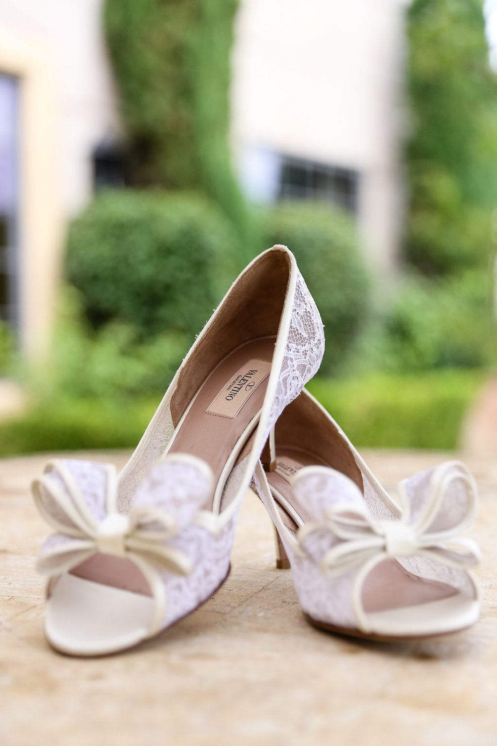 Gorgeous White Wedding Shoes - Gorgeous Seal Beach Wedding Venue - Old Country Club Wedding