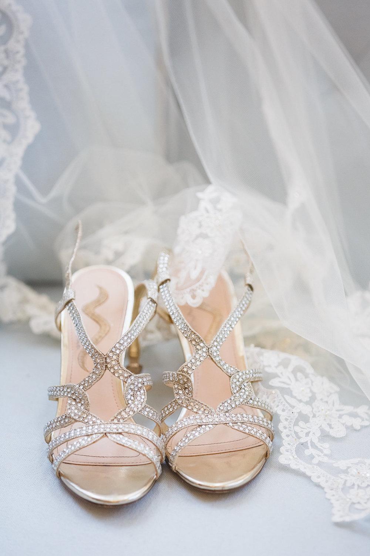 Silver Wedding Shoes - Science Museum of Virginia Wedding
