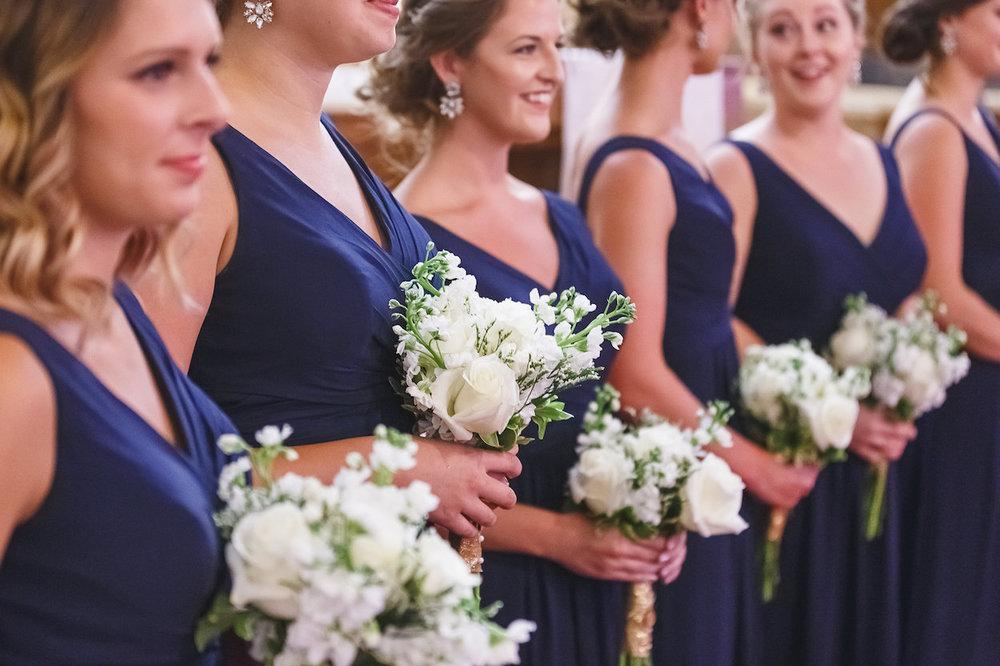 Navy Bridesmaid Dresses - Science Museum of Virginia Wedding