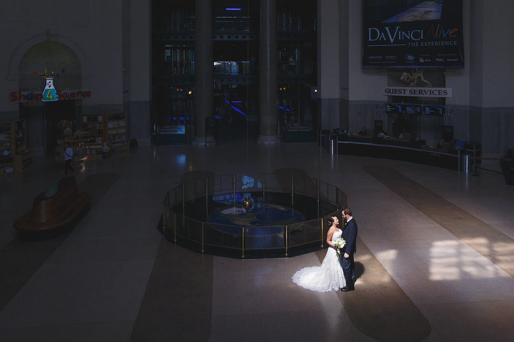 Gorgeous First Dance Photos - Science Museum of Virginia Wedding