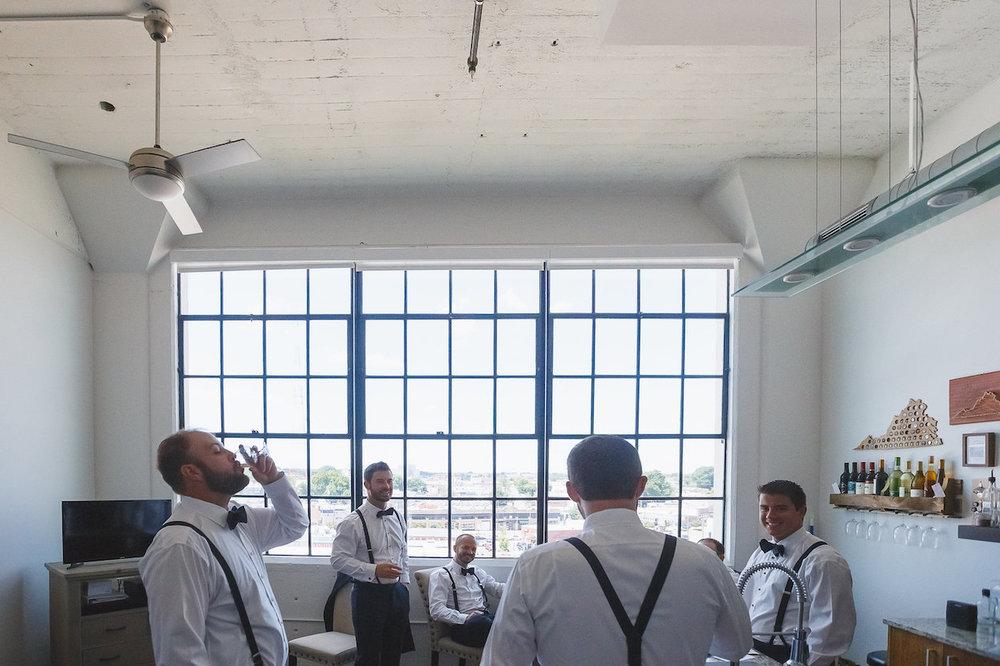 Groomsman Suspenders - Science Museum of Virginia Wedding