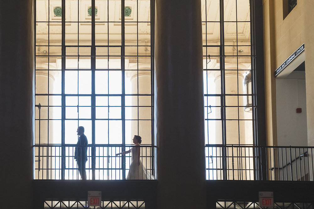 Gorgeous First Look Wedding Photos - Science Museum of Virginia Wedding