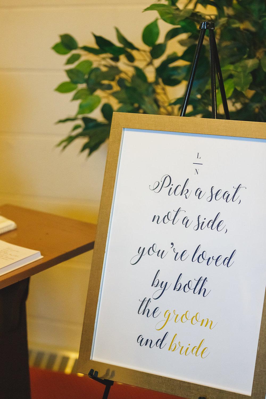 Fun Wedding Signs - Science Museum of Virginia Wedding