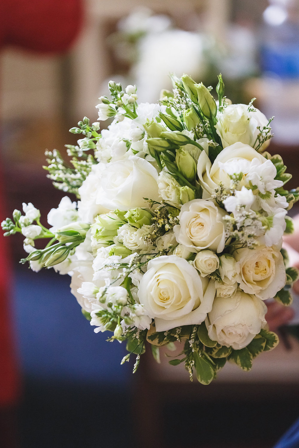 Gorgeous All White Wedding Bouquets - Science Museum of Virginia Wedding