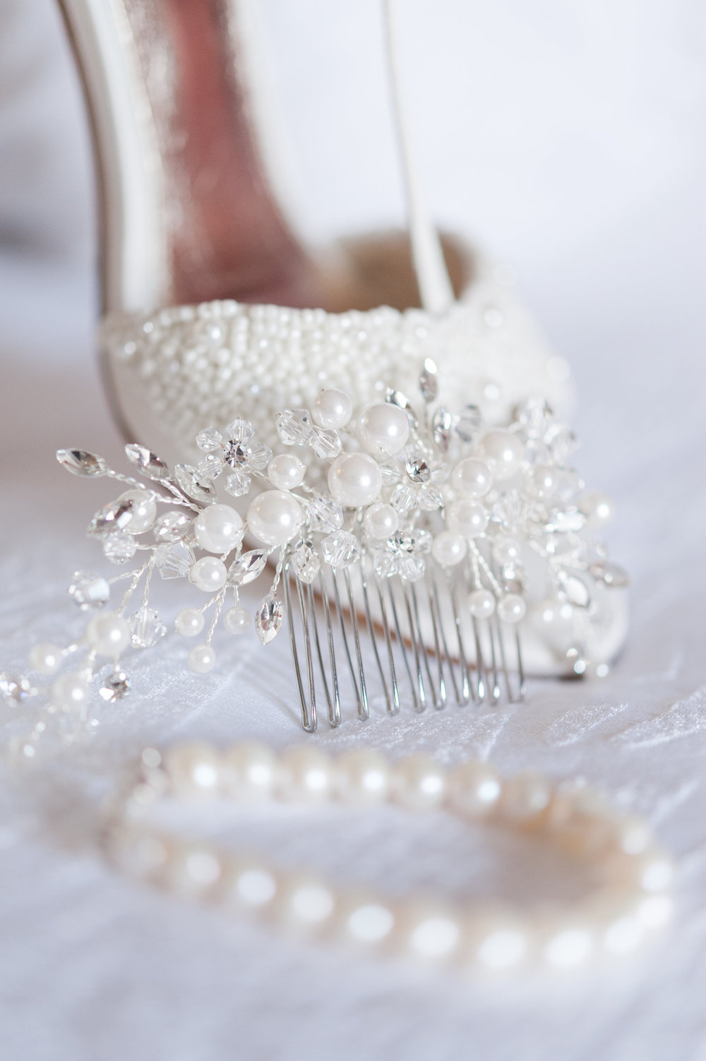 White Bridal Heels - Ohio Wedding Venue — Brookside Golf & Country Club Wedding