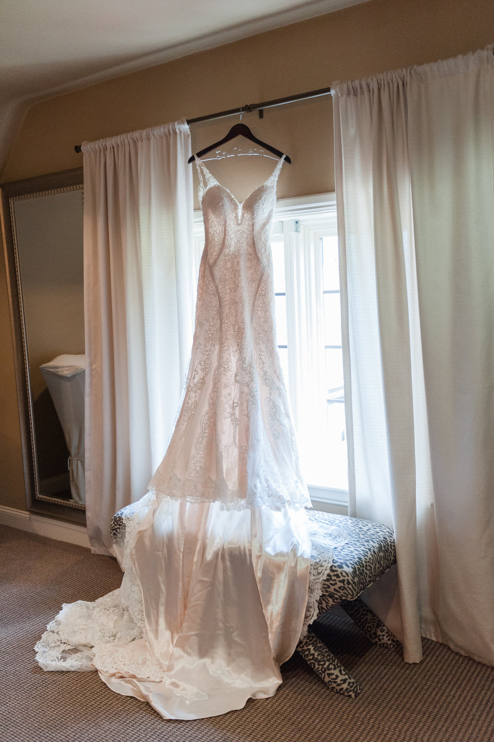 Lace Wedding Dress with Long Train - Ohio Wedding Venue — Brookside Golf & Country Club Wedding