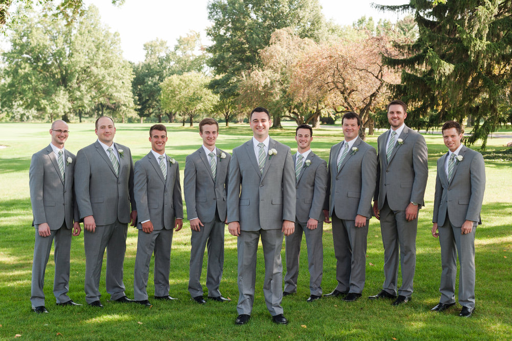 Grey Groomsman Suit Rentals