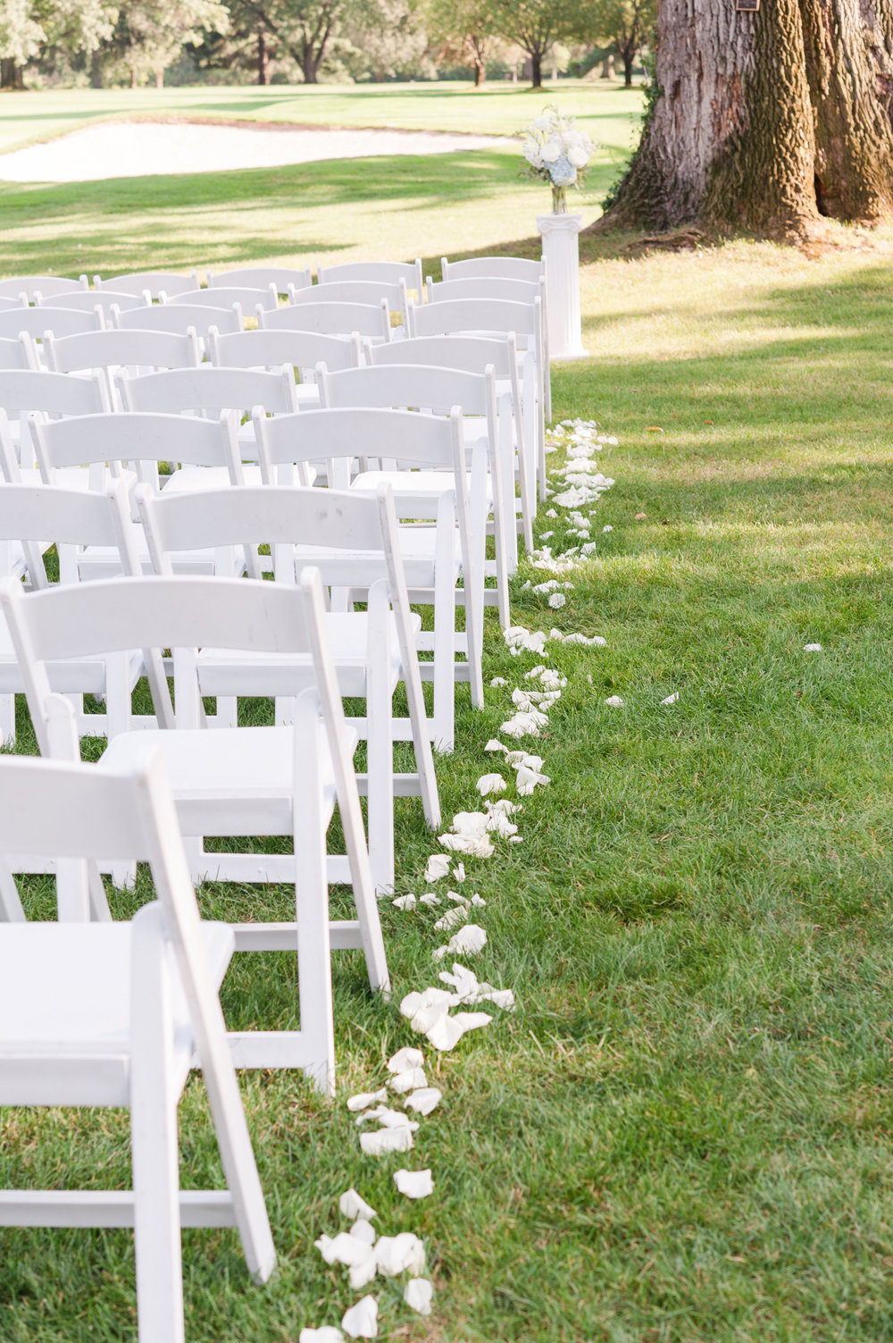 Simple Wedding Ceremony Aisle Decor
