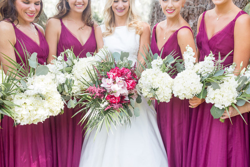 Gorgeous All White Wedding Bouquets - Musgrove Plantation Georgia Wedding Venue