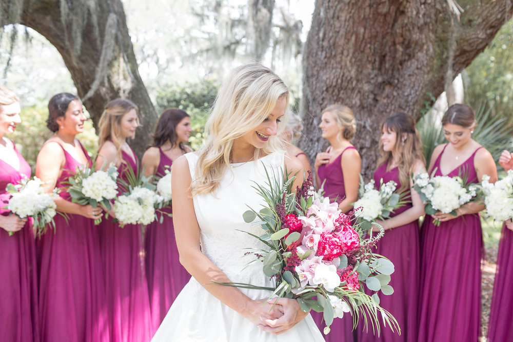 Gorgeous Pink and White Wedding Bouquet - Musgrove Plantation Georgia Wedding Venue