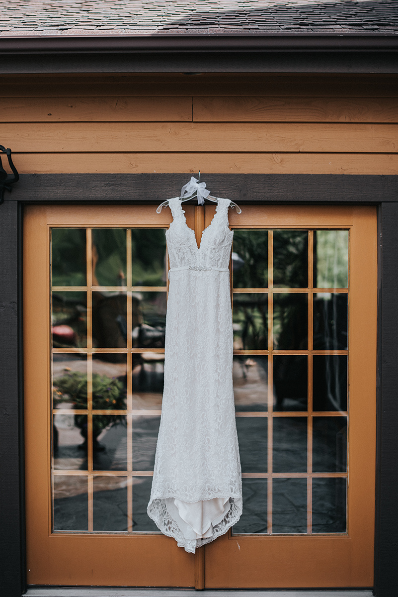 Lace Low Back Wedding Dress - Meadow Ridge Farm Ohio Wedding