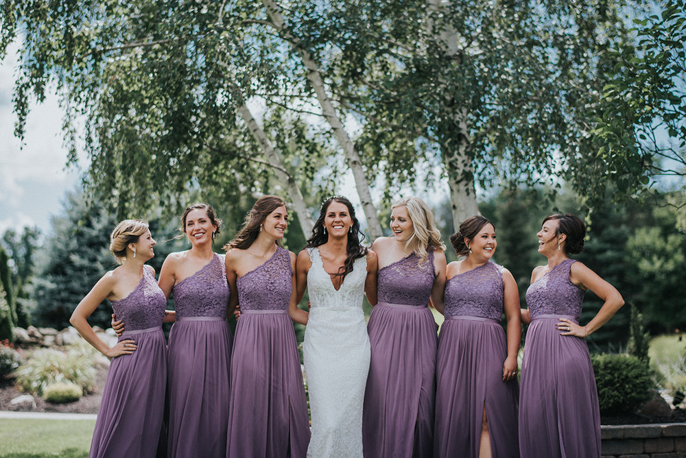 Lavender Bridesmaid Dresses - Meadow Ridge Farm Ohio Wedding