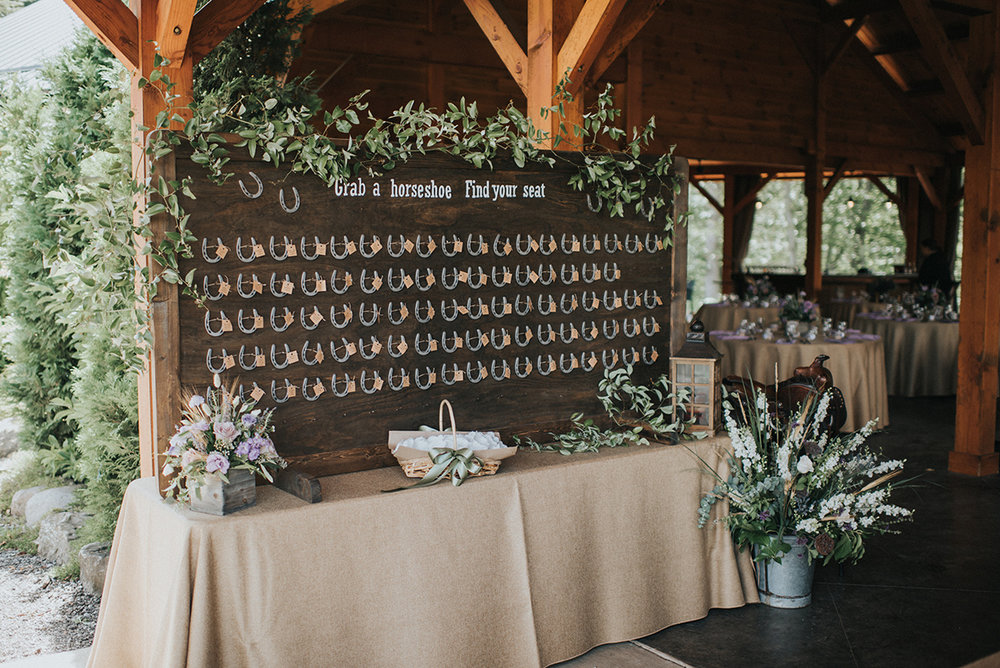 Unique Wedding Seating Charts - Meadow Ridge Farm Ohio Wedding