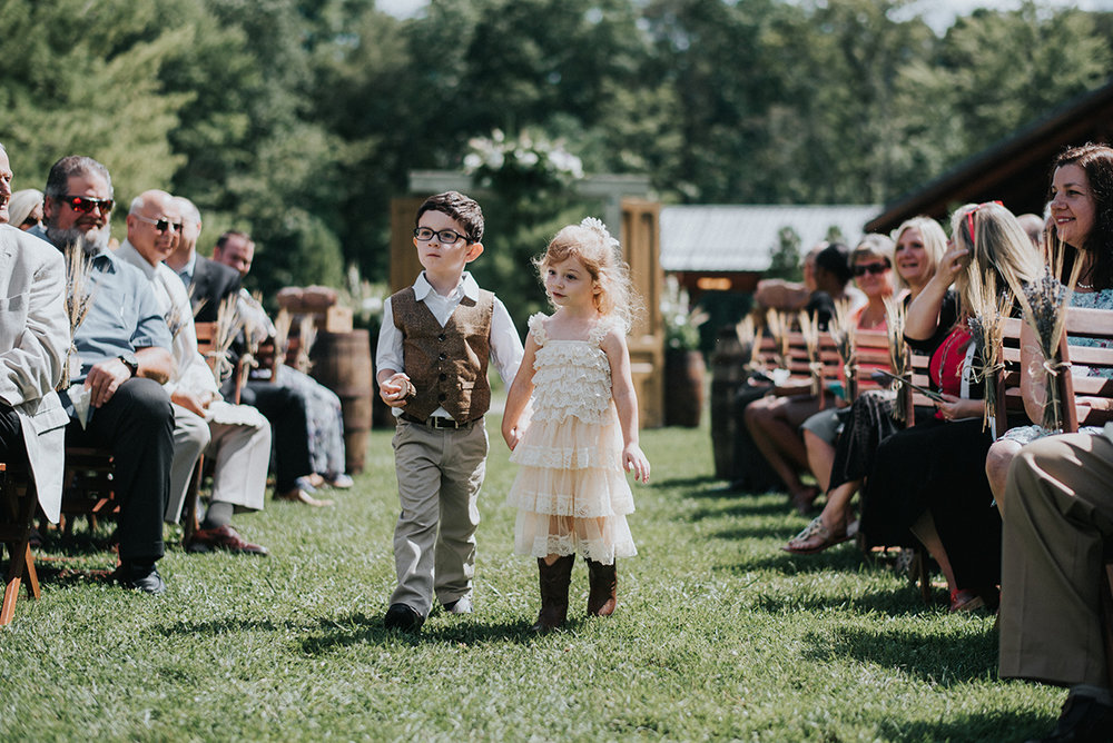 Rustic Flower Girl Dress