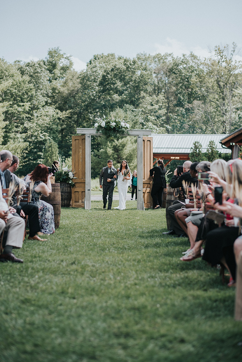 Rustic Wedding Ceremony Decor - Meadow Ridge Farm Ohio Wedding
