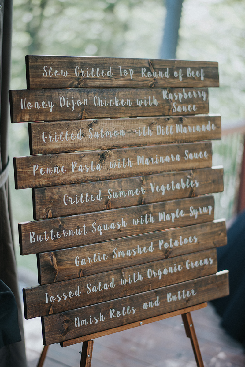 Rustic Wooden Wedding Signs - Meadow Ridge Farm Ohio Wedding