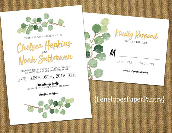 Summer Floral Wedding Invitations -- The Overwhelmed Bride Wedding Blog