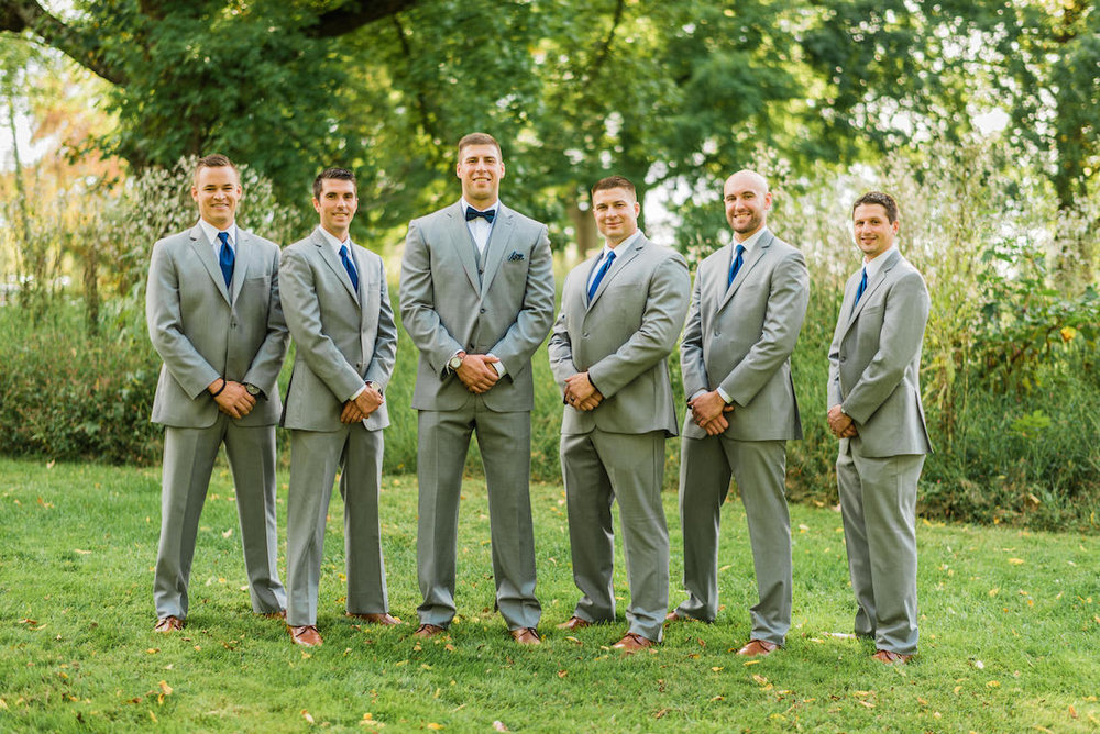 Grey Groomsman Suit Rentals - A Philander Chase Knox Estate Pennsylvania Wedding