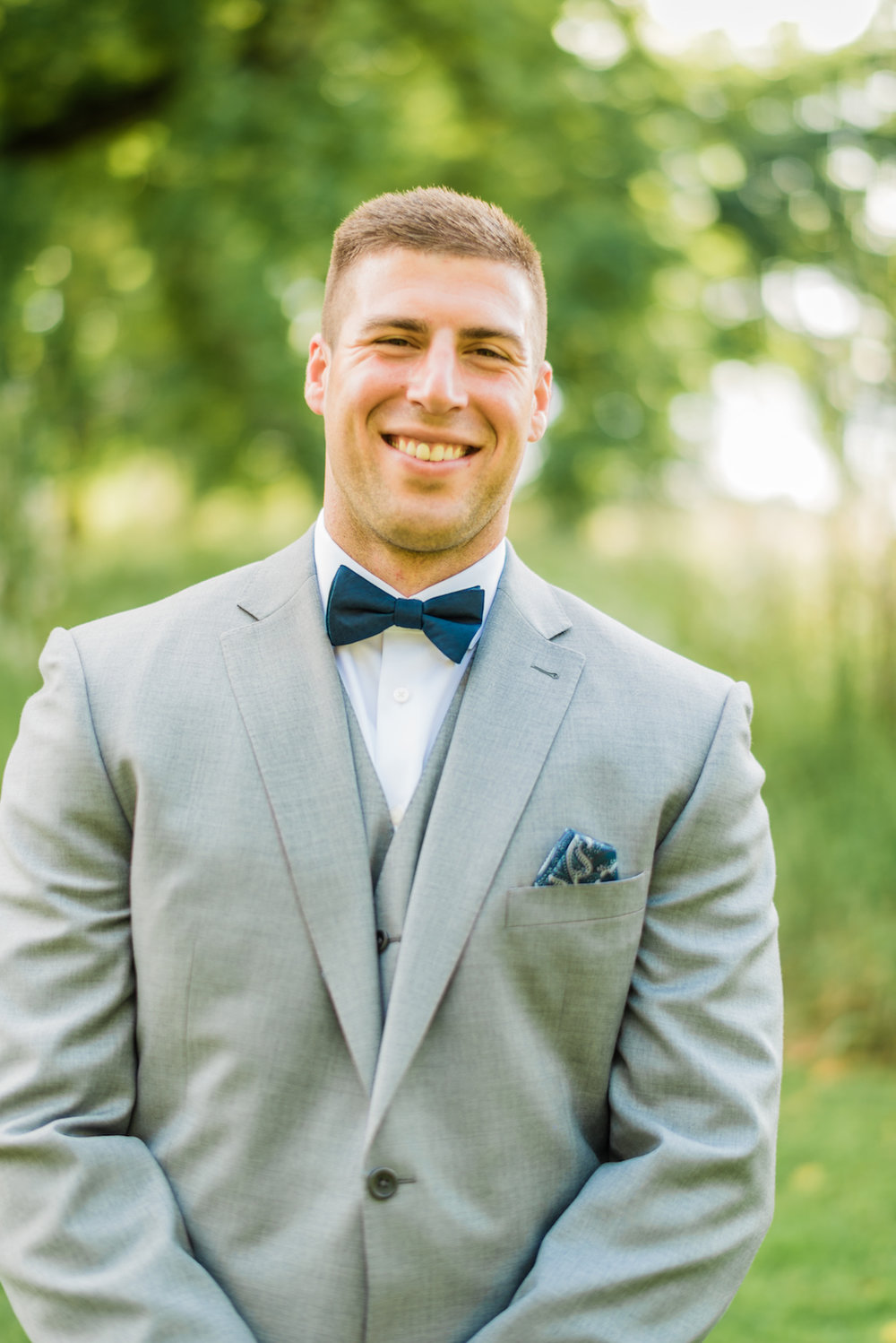 Grey Groomsman Suit Rental - A Philander Chase Knox Estate Pennsylvania Wedding