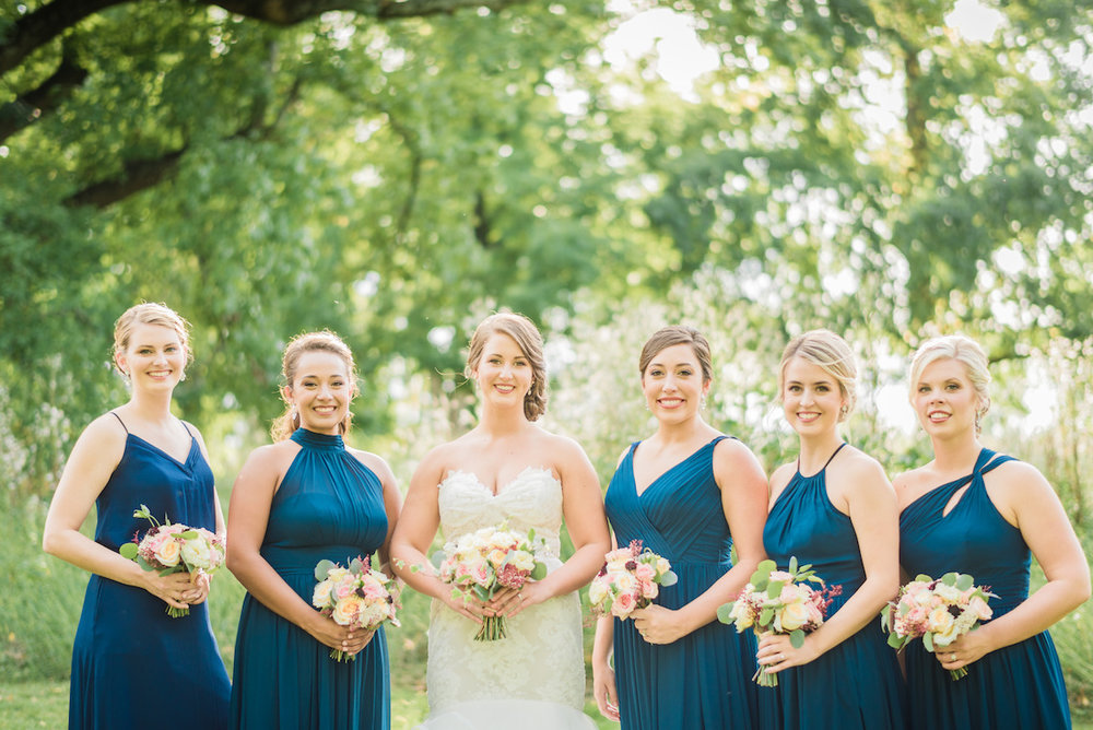 Navy Bridesmaid Dresses - A Philander Chase Knox Estate Pennsylvania Wedding