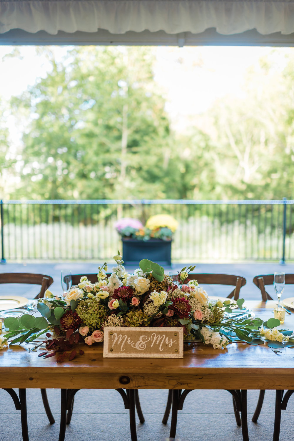 Gorgeous Wedding Centerpieces - A Philander Chase Knox Estate Pennsylvania Wedding