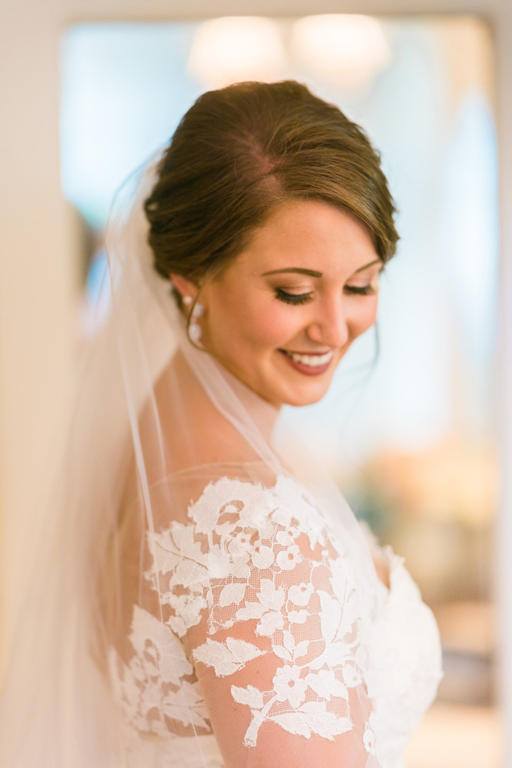 Lace Wedding Dress - A Philander Chase Knox Estate Pennsylvania Wedding