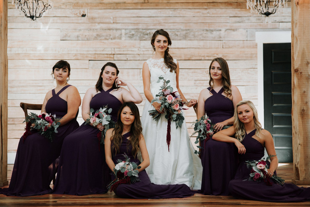 Black Bridesmaid Dresses - Athens, Tennesee Barn Wedding -- The Overwhelmed Bride Wedding Blog