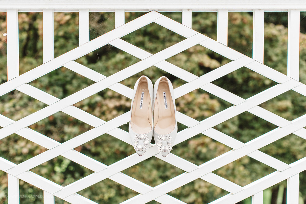 Gorgeous Wedding Shoes - Portland, Oregon Waverley Country Club Wedding