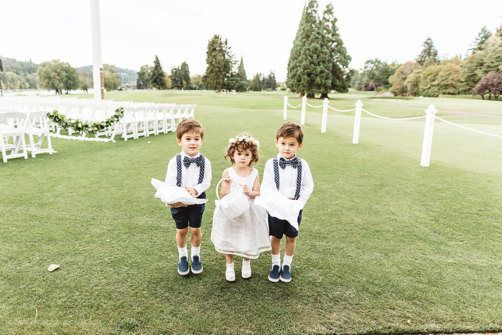 Adorable Ring Bearer Outfits - Portland, Oregon Waverley Country Club Wedding