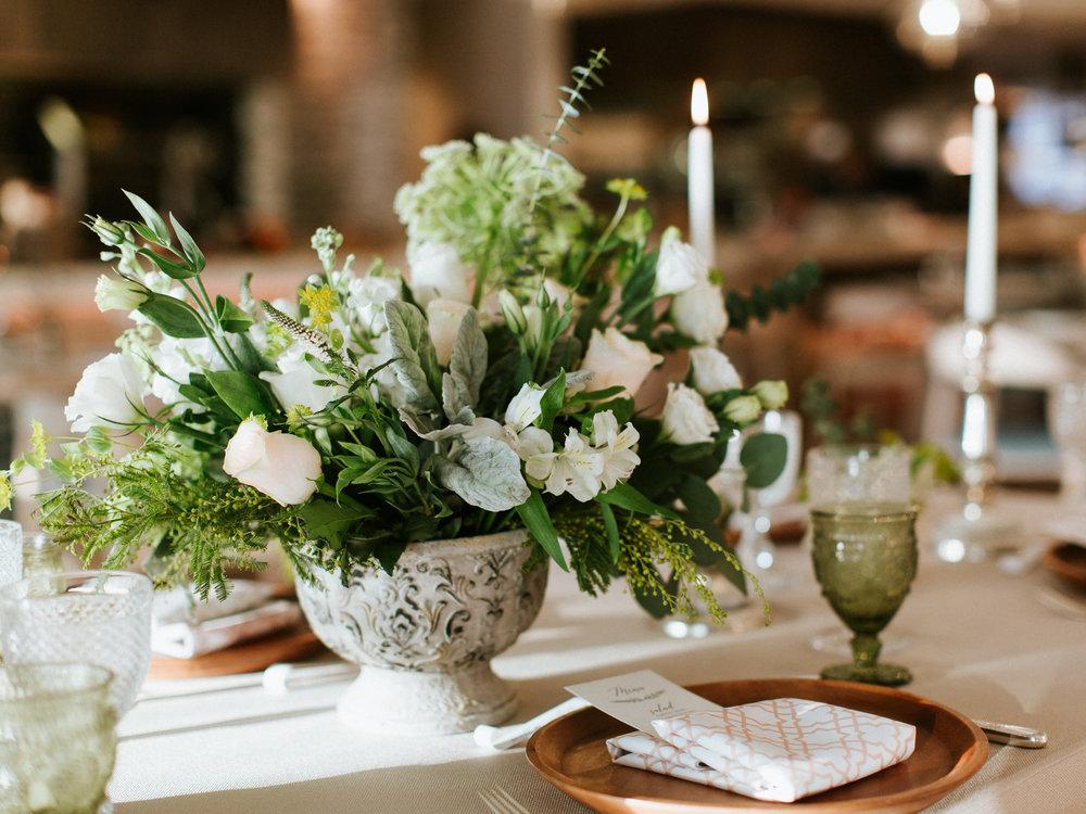 Gorgeous Greenery Wedding Centerpieces -  Blue Blanc Dubai Vintage Wedding