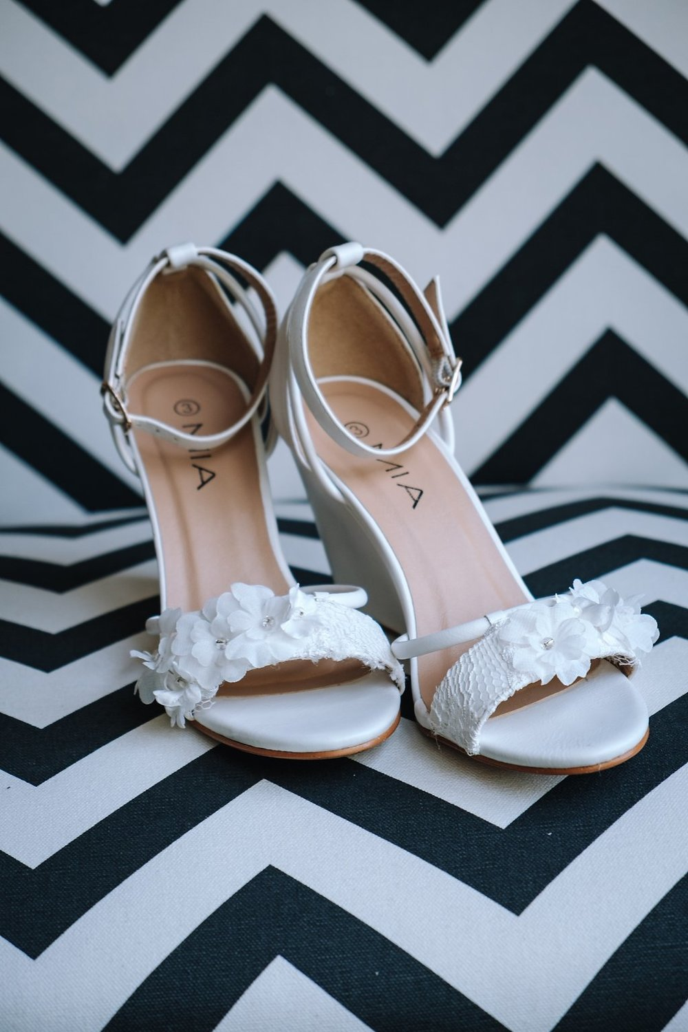 Simple White Wedding Shoes - Farm-Forest Wedding - The Overwhelmed Bride Wedding Blog