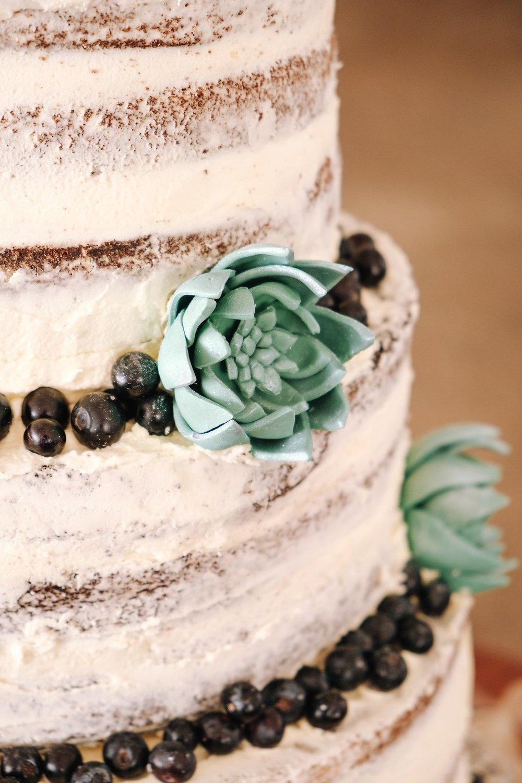 Gorgeous Naked Wedding Cake - Farm-Forest Wedding - The Overwhelmed Bride Wedding Blog