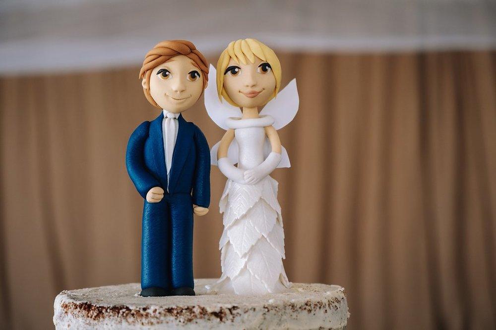 Wooden Replica Wedding Cake Topper — The Overwhelmed Bride Wedding Blog
