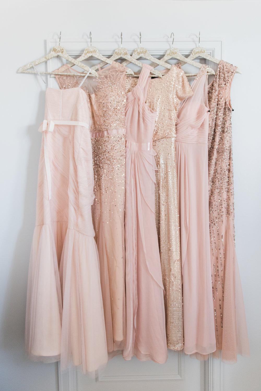 Blush Bridesmaid Dresses - Flagler Museum Palm Beach Wedding Venue - The Overwhelmed Bride Wedding Blog