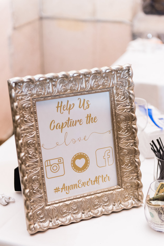 Cute Wedding Signs - Flagler Museum Palm Beach Wedding Reception - The Overwhelmed Bride Wedding Blog