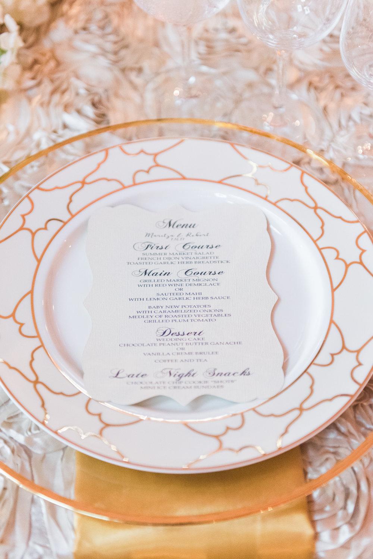 Gold and White Wedding - Flagler Museum Palm Beach Wedding Reception - The Overwhelmed Bride Wedding Blog