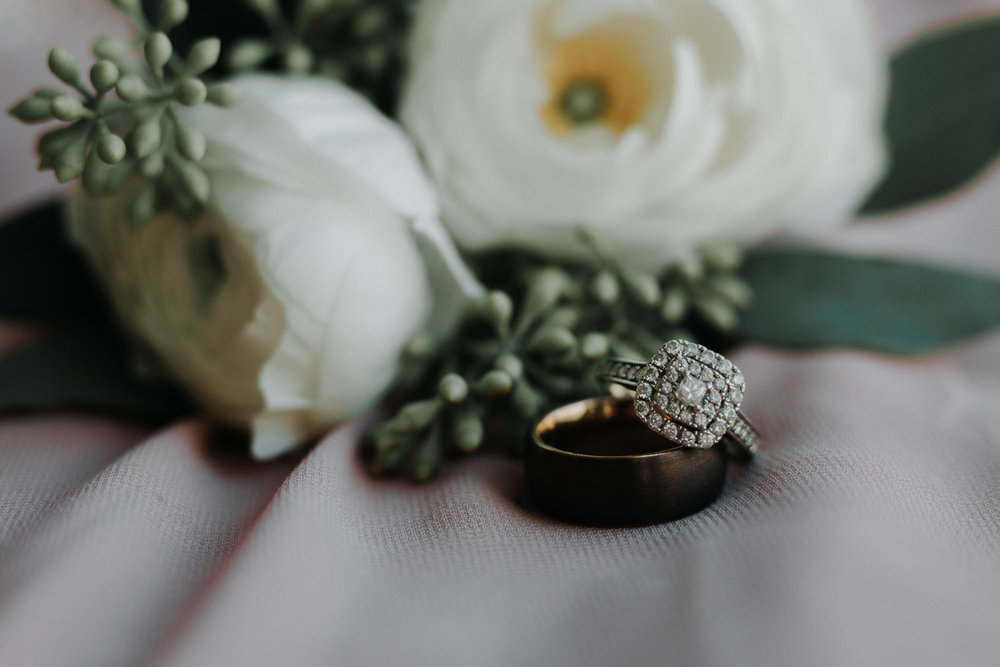 Gorgeous Halo Engagement Ring - Dara's Garden Knoxville East Tennessee Wedding — The Overwhelmed Bride Wedding Blog
