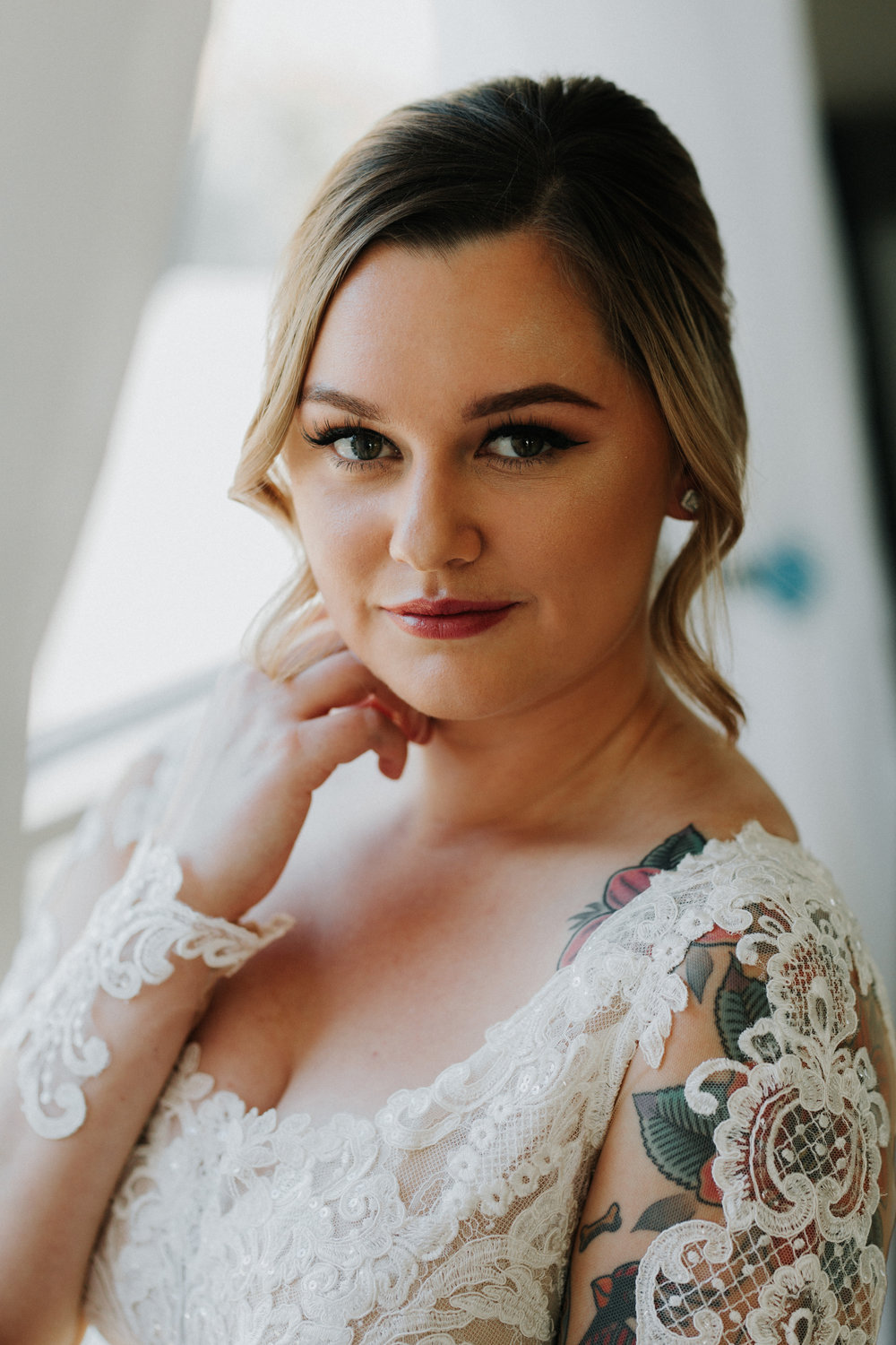 Gorgeous Wedding Makeup - Dara's Garden Knoxville East Tennessee Wedding — The Overwhelmed Bride Wedding Blog