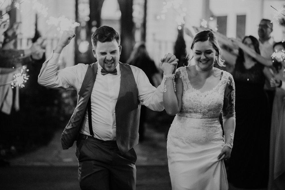 Gorgeous Wedding Send Off Photos - Dara's Garden Knoxville East Tennessee Wedding — The Overwhelmed Bride Wedding Blog