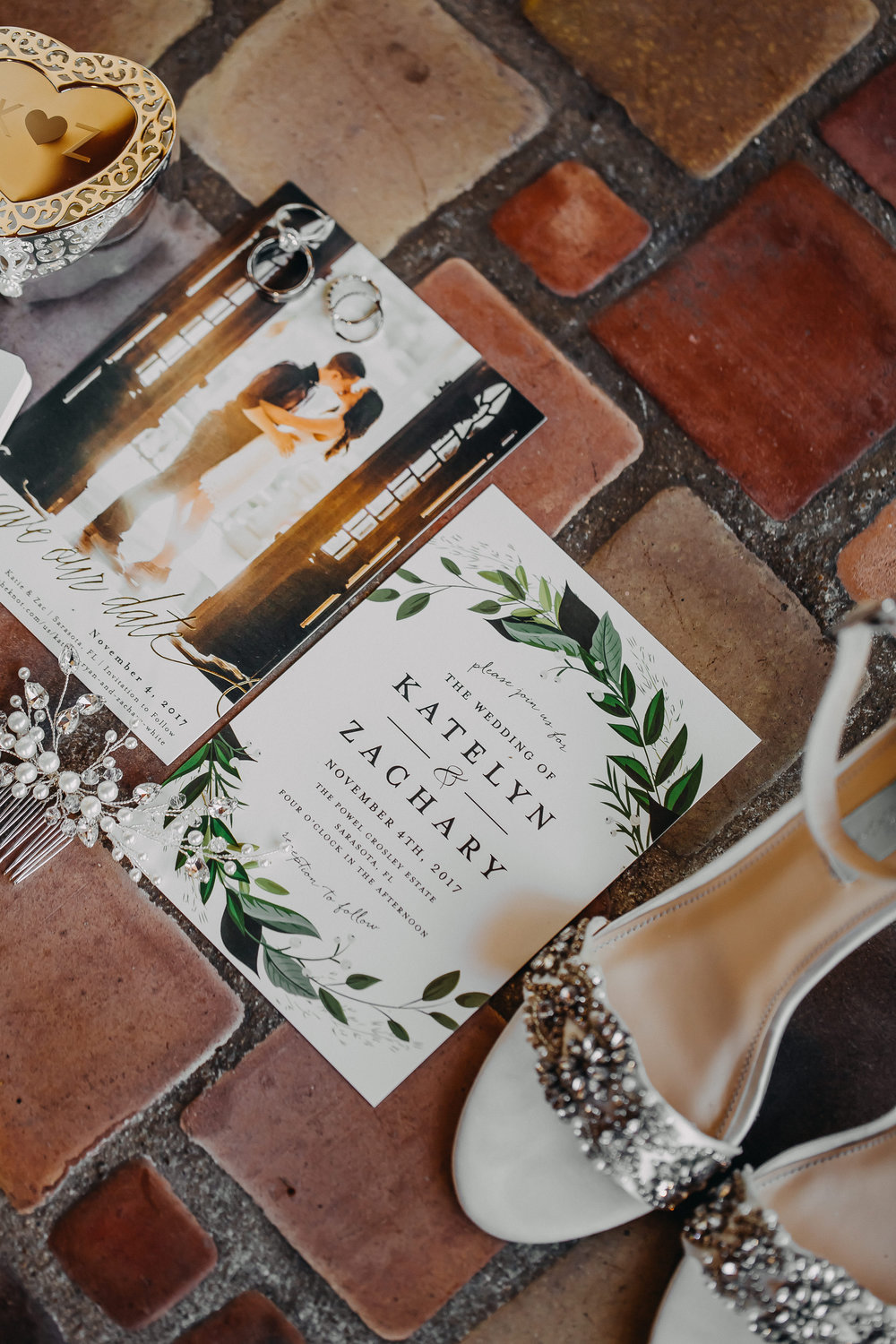 Gorgeous Wedding Invitations - Florida Estate Wedding - Powel Crowley Estate Wedding