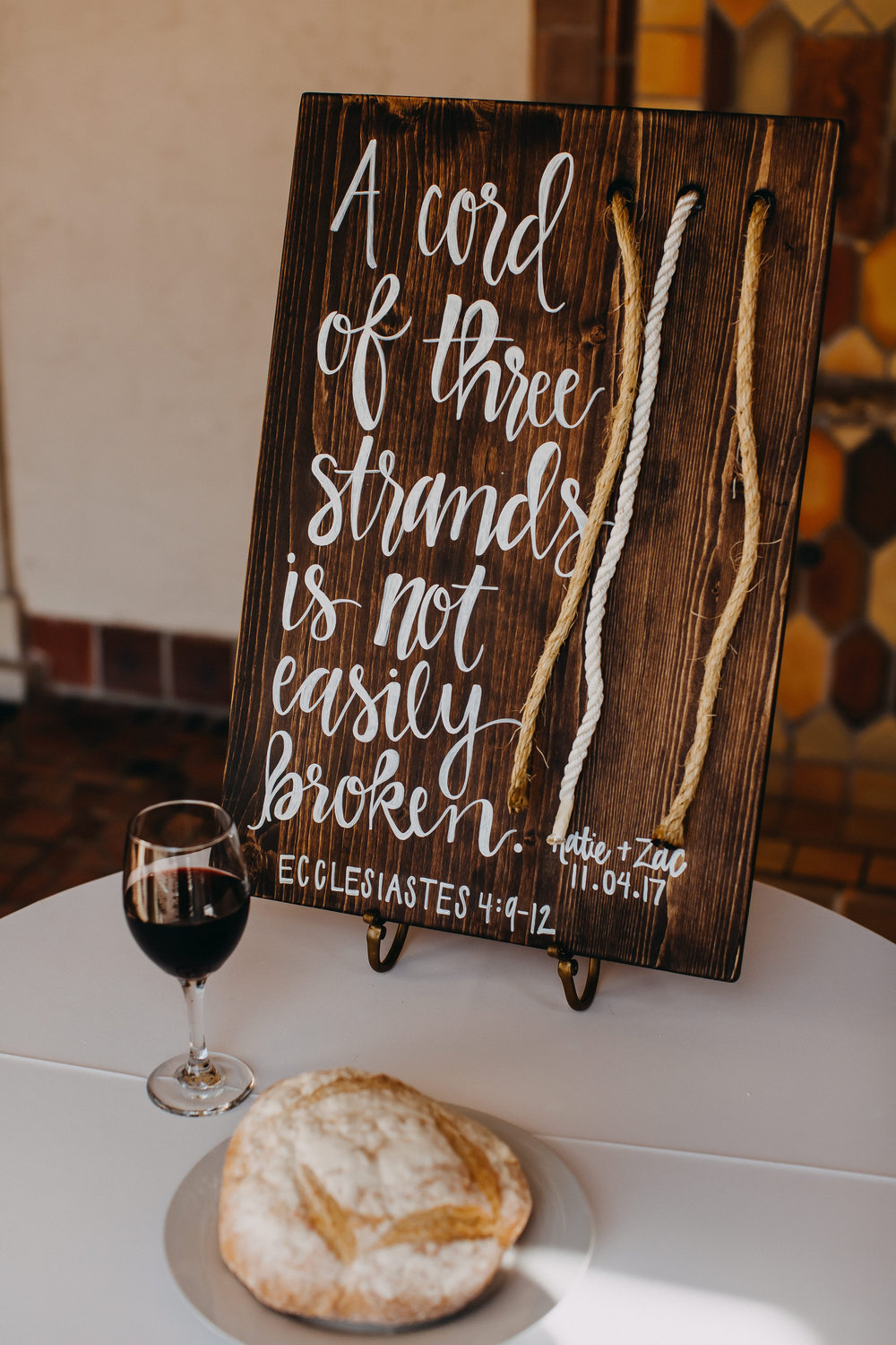Wooden Wedding Sign - Florida Estate Wedding - Powel Crowley Estate Wedding