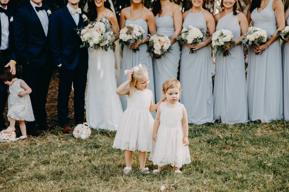 Cute Flower Girl Dresses - Florida Estate Wedding - Powel Crowley Estate Wedding