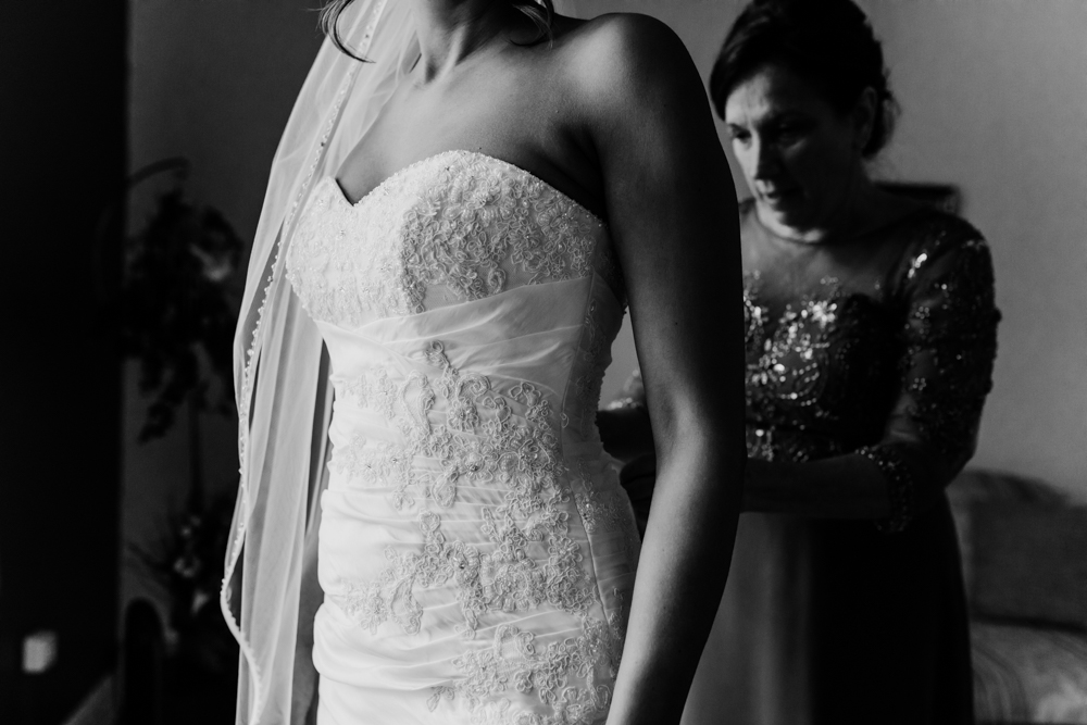 Lace Up Back Wedding Dress - Pennsylvania Fall Wedding - The Overwhelmed Bride Wedding Blog
